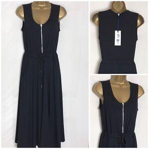 M-amp-S-Black-Soft-Modal-Stretch-Jersey-Lined-Midi-Dress-Sizes-8-18-ms-276w