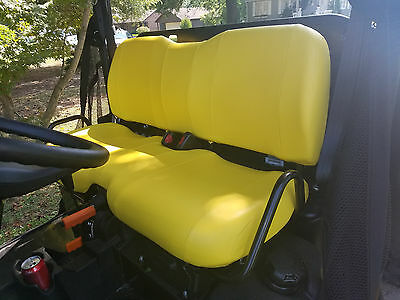 John Deere Gator Bench Seat Covers XUV 825i  in SOLID BLACK  or 45 Colors