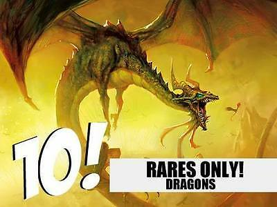 Dragon Lot - 10 Random RARE Dragons! MTG Magic!