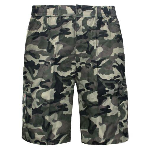 Homme Longueur Genou Short Camouflage Militaire élastique Army Combat Pantalon Cargo