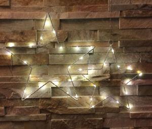 LED-Stern-Fensterdekoration-Micro-warmweiss-Drahtstern-Weihnachtsstern-30-40-cm