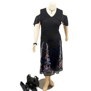 TAKING-SHAPE-Black-Wedding-Party-Evening-Cold-Shoulder-Dress-Plus-Size-22