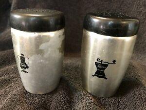 West Bend Aluminum Salt /& Pepper Shakers