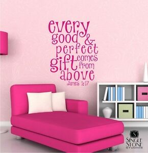 Every Good And Perfect Gift Wall Decal Quote Bible Verse Wall - Wall decals quotes bible