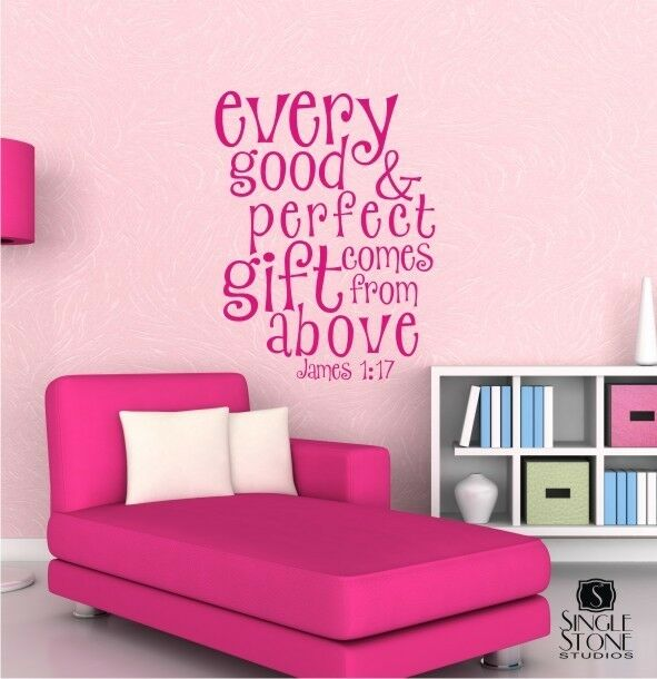 Every Good And Perfect Gift Wall Decal Quote - Bible Verse Wall Sticker