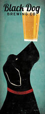 Black Dog Brewing Co Ryan Fowler Beer Sign Dog Lab Animals Print Poster