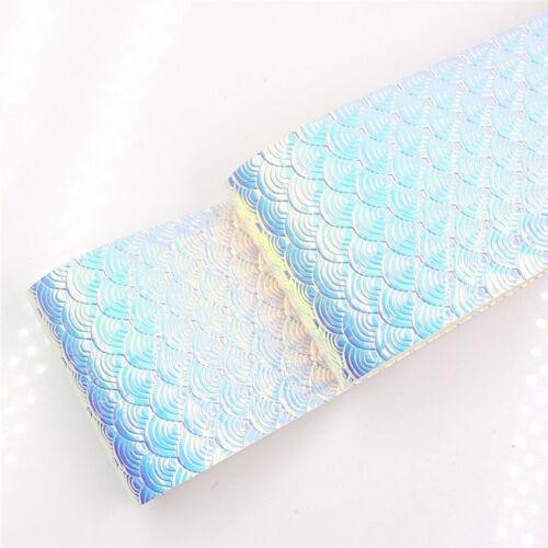 1yard Rainbow Gradient Mermaid Scale Ripple Ribbon DIY Bastelmaterialien Bänder
