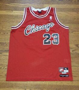 new concept 87b02 1d2ec Details about Vintage Nike Chicago Bulls #23 Michael Jordan 1984 8403 Sewn  NBA jersey XL+2