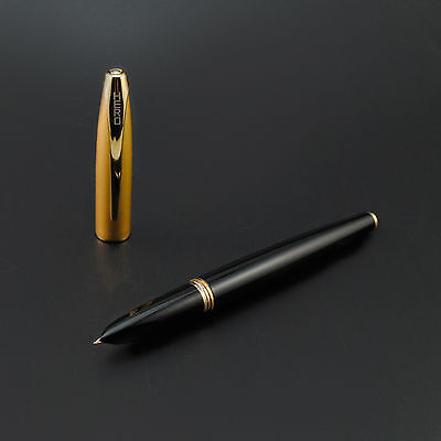 Hero 1000 10K Gold Nib Fountain Pen Golden Cap With Box