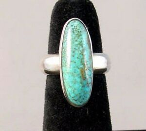 Native-American-Sterling-Silver-Natural-Kingman-Turquoise-RING-s7-25-A-Sanchez