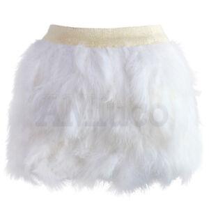 Le-donne-piuma-di-struzzo-Minigonna-Festa-Matrimonio-Ballo-Clubwear-Soffici-Gonna-Corta