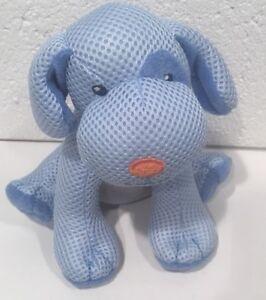 Breathable Baby Puppy Plush Stuffed Animal Toy Rattle Dog Blue 7 1 2