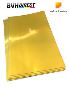 20-Sheets-Metalic-silky-Gold-Self-Adhesive-Sticky-Sticker-Labels-Paper-PET-film