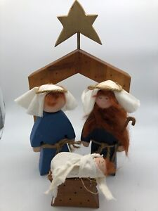 Nativity-Set-Wooden-Handmade-Creche-Christmas