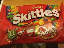 FUNSIZE PACKS OF SKITTLES FRUITS 198g, BRITISH SWEETS, WILL SHIP WORLDWIDE