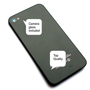 Rear-battery-cover-for-Apple-iPhone-4S-NEW-black-back-glass-housing