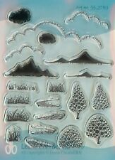PINE Holiday Decor Clear Unmounted Rubber Stamp Set INKADINKADO 60-31238 NEW