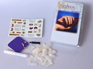 Millennium-False-Nails-Gold-Ring-Egypt-Design-Nail-Art-Decoration-Kit-Drill-UK