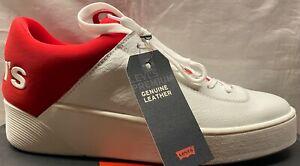 Levi's Sneaker Schuhe MULLET 230087 Leder weiß rot Sneakers LEVIS Premium