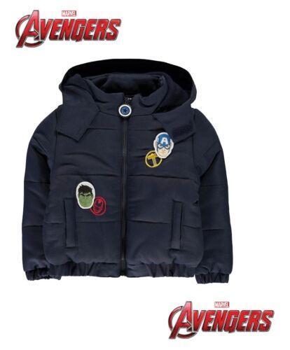 Blouson  rembourré à capuche garçon Avengers du 3 au 12 ans