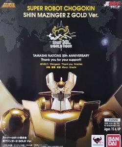 BANDAI-SRC-SUPER-ROBOT-CHOGOKIN-SHIN-MAZINGER-Z-GOLD-VER-TAMASHII-WORLD-TOUR