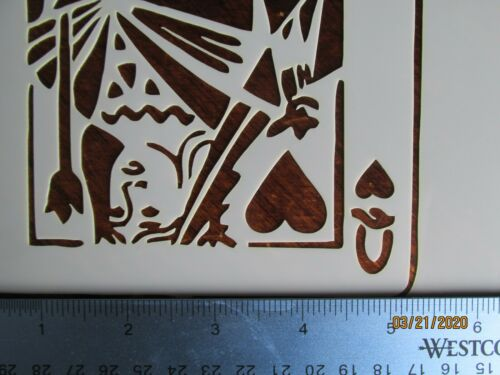 King and Queen Of Hearts Stencil//Template 2 Pack Reusable 10 mil Mylar
