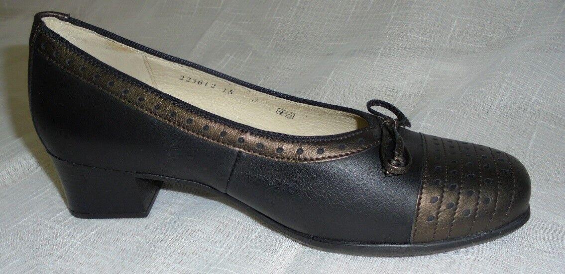 8085bba2ee8 Zapatos señora zapatos pumps negro bronce cuero bosque alfil (39
