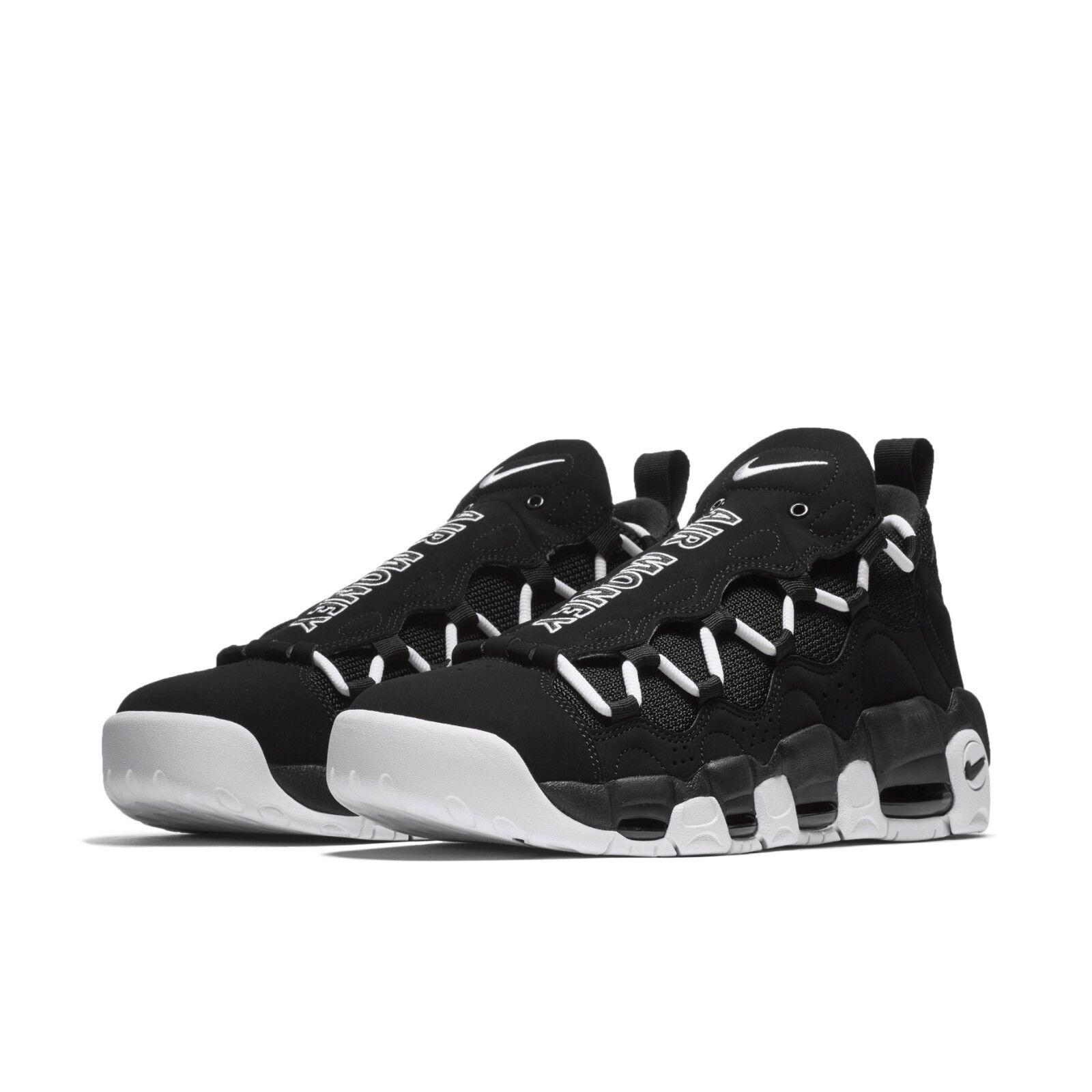 Nike Mens Air More Money Black White Reggie Miller Retro Sneakers AJ2998-001 Cheap women's shoes women's shoes