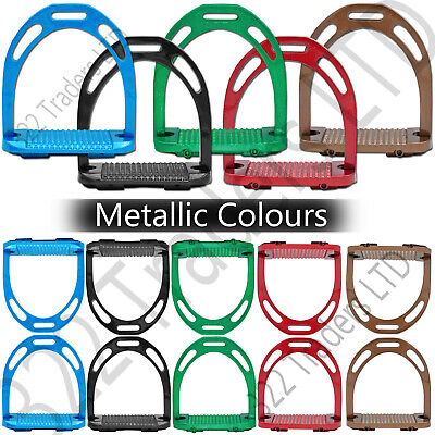 Jinn Stirrups Aluminum Metallic Colours Horse Riding Equestrian Treads
