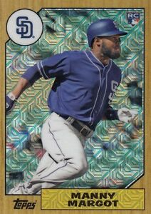 Details About Manny Margot 2017 Topps Series 2 Silver Pack Refractor Rookie Card Rc 87 Mm