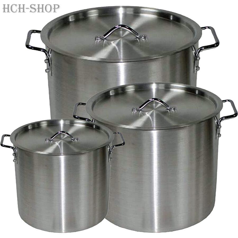 Aluminium Camping Pot Saucepan Soup Pot Stew Pot with Lid 8 12 30 Ltr.