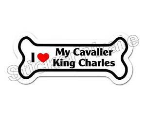 I-Love-My-Cavalier-King-Charles-Spaniel-Dog-Bone-Bumper-Sticker-Decal-DB-175