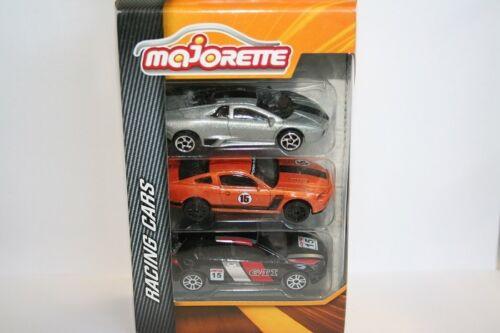 Majorette 212084020 Neu 3er Set Racing Cars Set 1