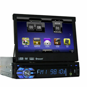 7 touch screen autoradio mit bluetooth navigation gps navi dvd usb sd aux 1 din ebay. Black Bedroom Furniture Sets. Home Design Ideas