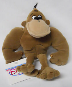 GEORGE OF THE JUNGLE ~ DISNEY STORE BEAN BAG CHARACTER NEW WITH ORIGINAL TAG