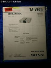 Sony Service Manual TA VE25 Home Theater System (#4508)