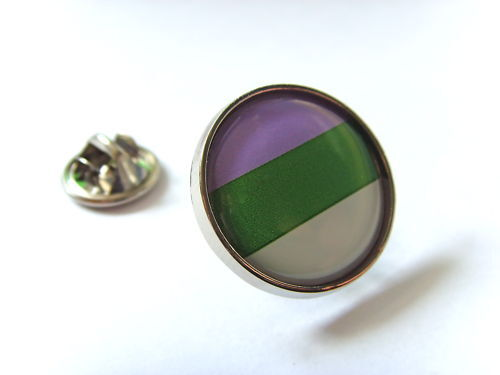 GENDERQUEER PRIDE FLAG GAY RAINBOW LAPEL PIN BADGE GIFT