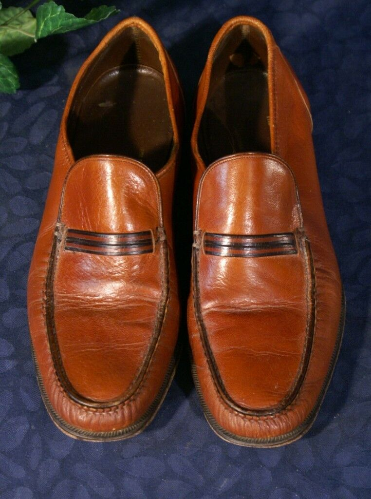 EUC Vintage FLORSHEIM IMPERIAL  Soft Chesnut Chesnut Soft Brown Loafers   9A 74e201