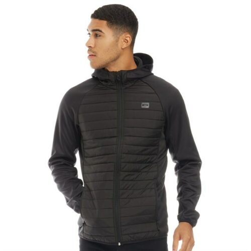 JACK AND JONES Mens Multi Quilted Jacket Black