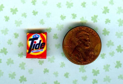 1//2 Half Inch Scale  Dollhouse Miniature Laundry Soap box # T