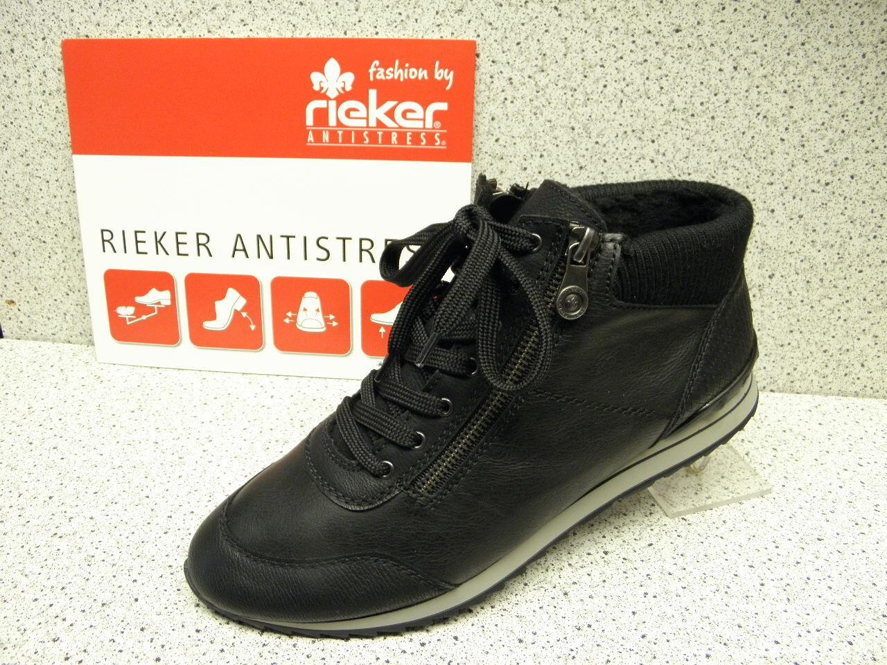 rieker ® SALE  bisher    + gratis Premium-Socken 56814-01(R163)