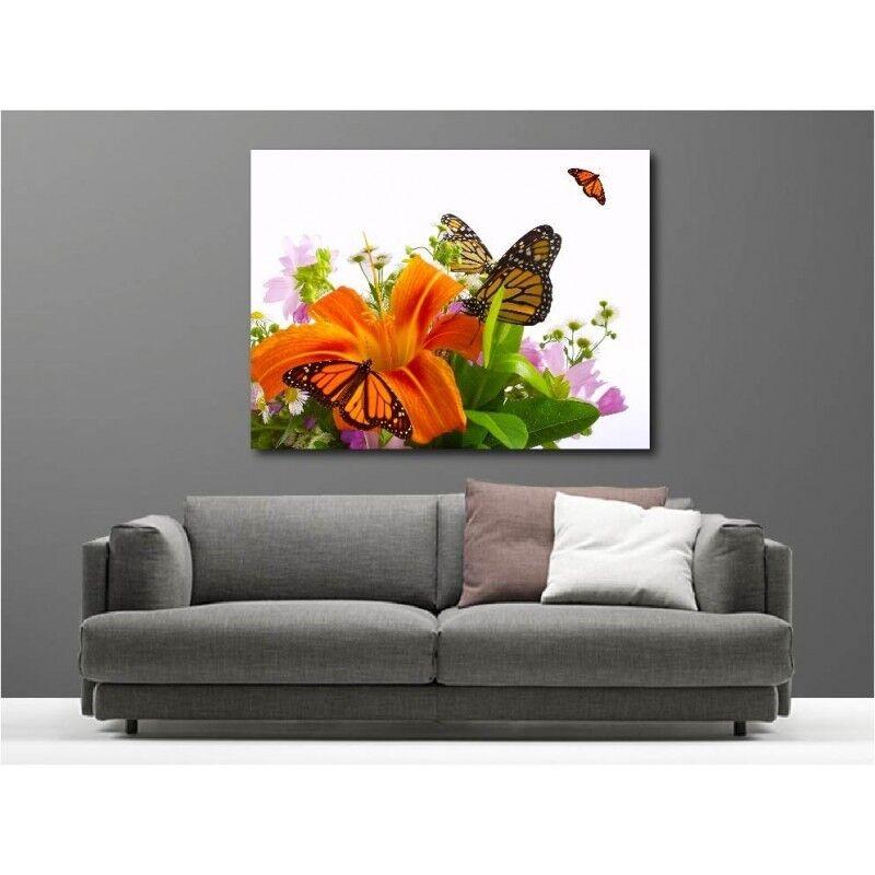 Tableaux toile déco rectangle papillon fleur papillon rectangle 1576435 67bf25