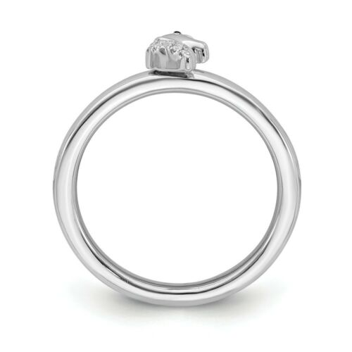 Diamond Unicorn Ring Sterling Silver Stackable Expressions Rings