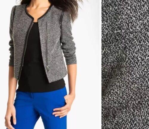 Faux Jakke Tweed Kvinder Camuto 18w Zip Size Blazer Læder Front Vince Plus wv8HR7qw