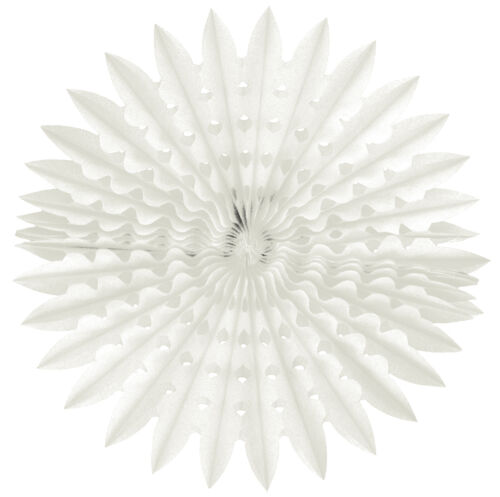 PACK 3,6,12 BIRTHDAY PARTY WEDDING EVENTS 20INCH HONEYCOMB TISSUE FANS WHITE