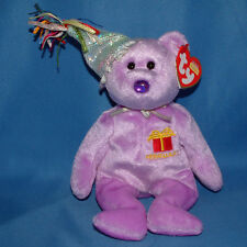 Ty Beanie Baby February - MWMT (Bear Birthday with hat 2003)