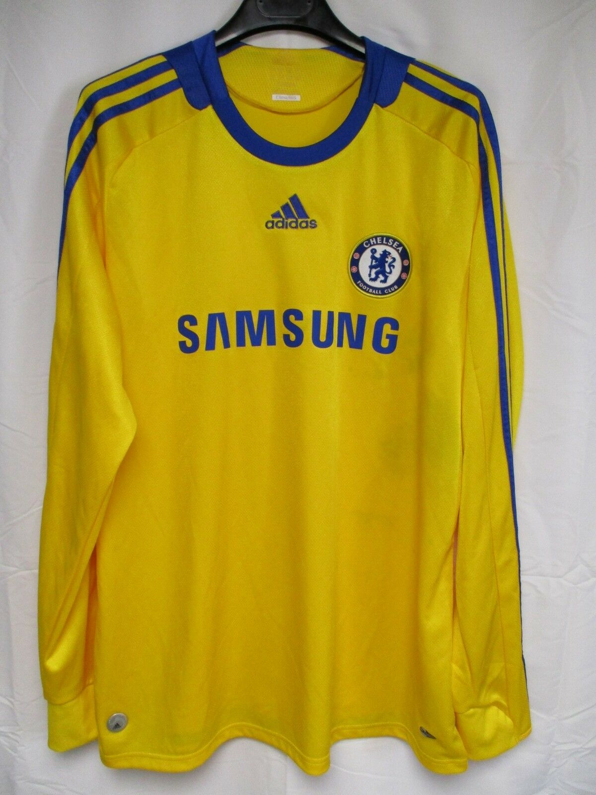 Maillot CHELSEA 2009 ADIDAS vintage shirt manches longues L S third yellow XL