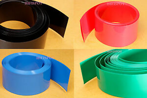 Flat-width-130mm-Diameter-82mm-PVC-HEAT-SHRINK-TUBING-TUBE-6FT