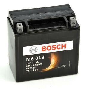Bosch M6018 Batterie moto YTX14-BS - 12V AGM 12A/h-200A