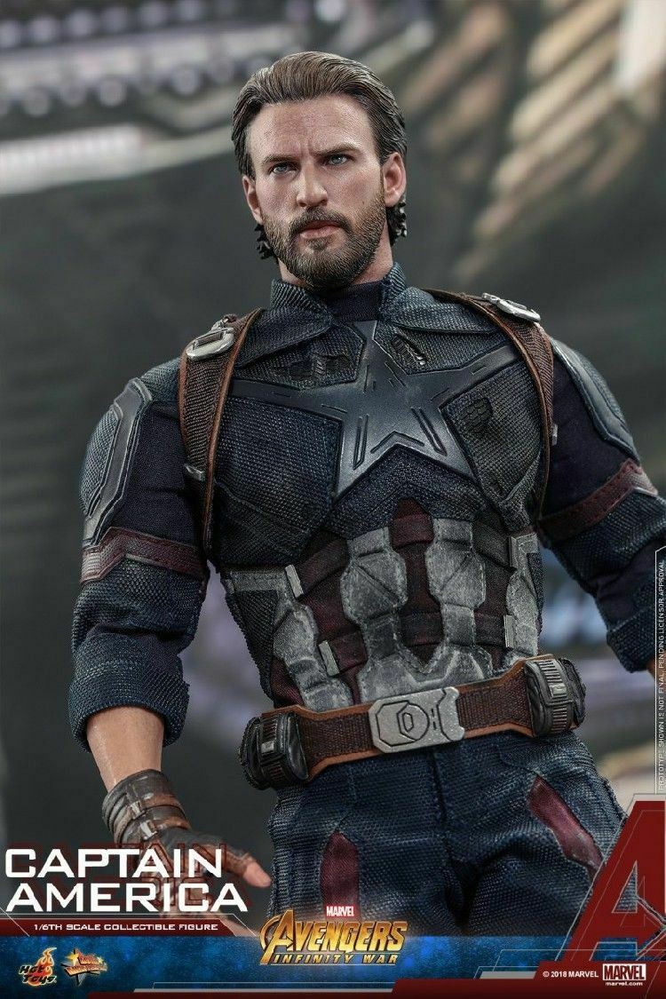 Hot Toys 1 6th MMS480 los Vengadores  Infinito Guerra Capitán América Conjunto Completo Modelo Juguete